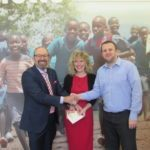 cheque-hand-over-to-compassion-150x150 - Big Day for Pop Ups at Buckingham Palace and CompassionUK Weybridge.