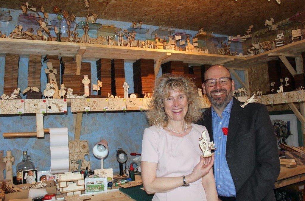 Fiona and Andy Cox of Pop UP Designs