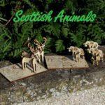 Scottish animals 3d wood gift Scottish cards