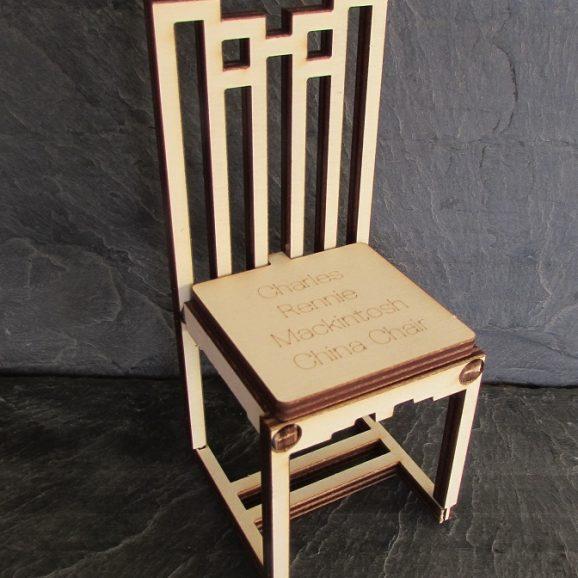 Charles Rennie Mackintosh Ingram Chair A5 Card