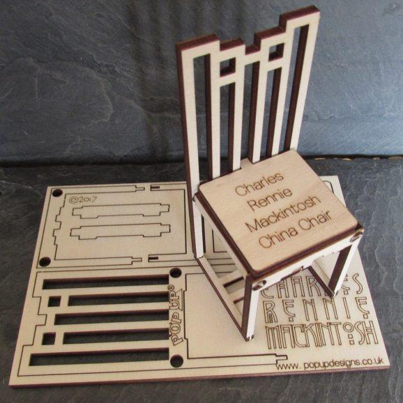 Charles Rennie Mackintosh China Chair A5 Card