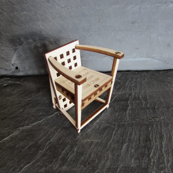 Charles Rennie Mackintosh Hill House Hall Chair Card