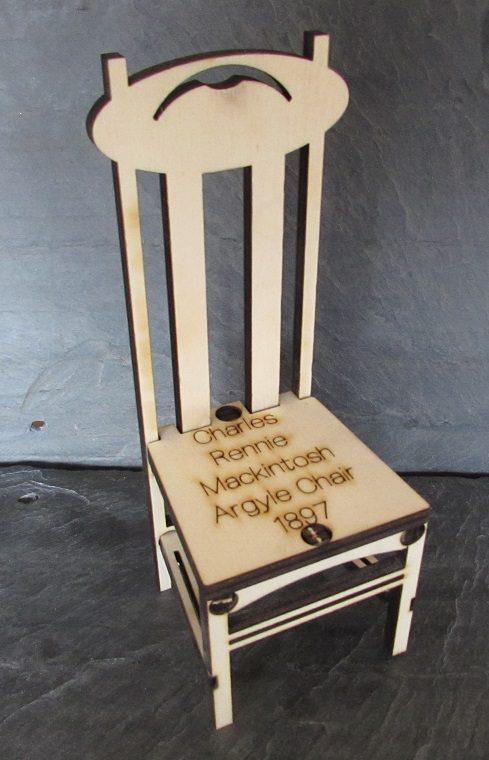 Charles Rennie Mackintosh Argyle Chair A5 Card