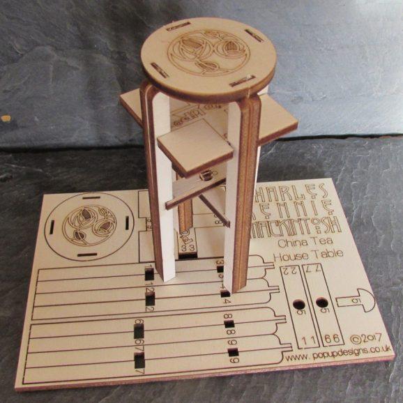 Charles Rennie Mackintosh China Tea Table Card