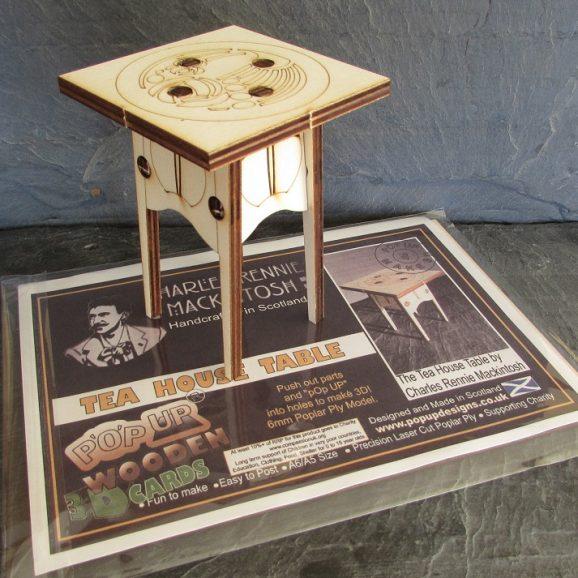 Charles Rennie Mackintosh Tea Room Table A5 Card