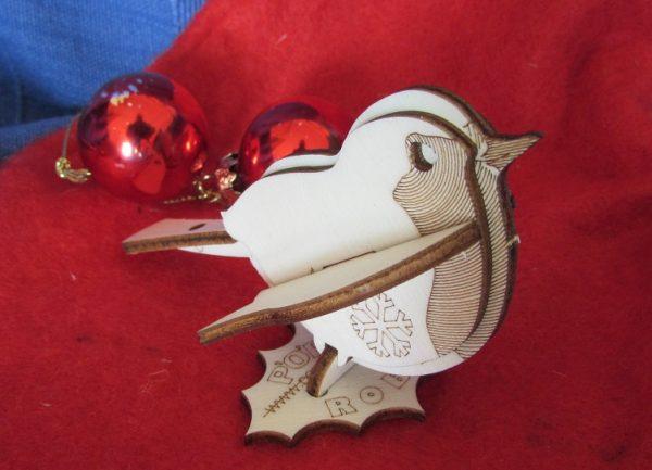 1. New Christmas Robin Card