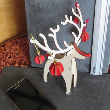 9. Rudolph RED nose with Baubles! A4 and A6 card